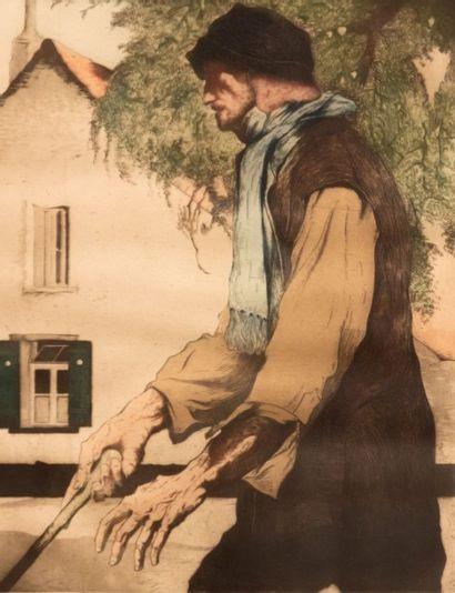 LANGASKENS Maurice (1884-1946)  L'aveugle...
