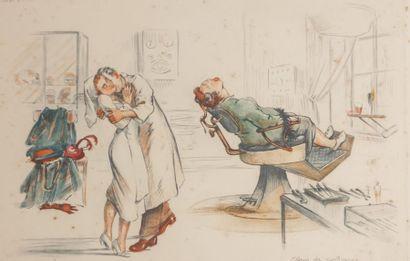 HOFFMANN Gaston (1883-?)  Feu d'artifice...