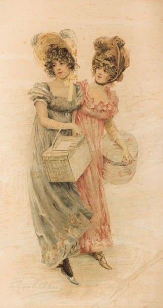 VALLET-BISSON Frédérique (1865-?)  Les élégantes...