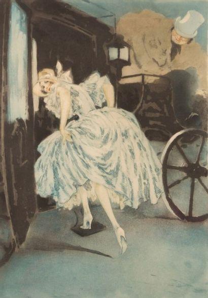 ICART Louis (1888-1950)  Élégante partant...