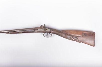 Fusil de chasse à percussion - canon  double...