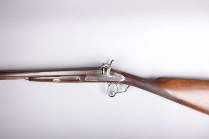 Fusil de chasse - canons juxtaposés,  octogonaux...