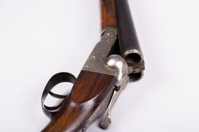 Fusil de chasse stéphanois - canons  juxtaposés,...
