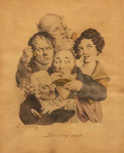 BOILLY Louis (1761-1845), d'après  La lecture...