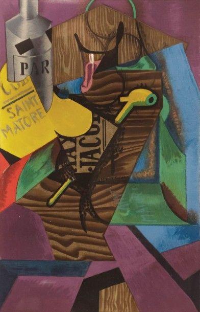 GRIS Juan (1887-1927)  Composition à la pipe...