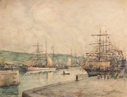 ROSE Georges (1895-1951)  Le port de Fécamp...