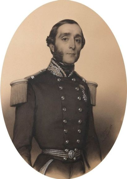 BLANC Benoît (1812-1862)  Portrait présumé...