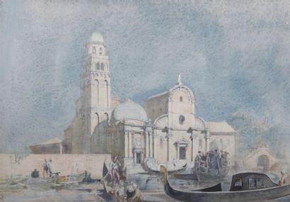 École Vénitienne du XIXème siècle  Église...