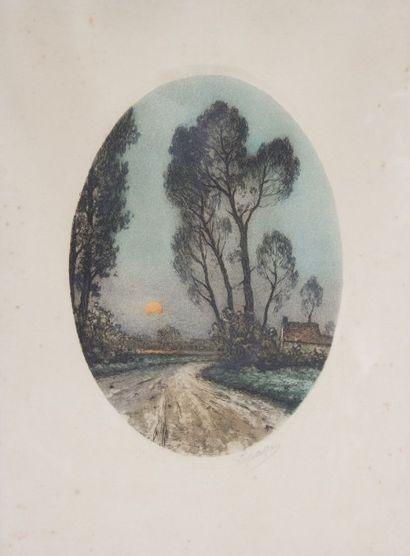 LEPAGE (XXème siècle)  Chemin de campagne...
