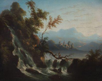 École italienne du XIXème siècle Paysages...
