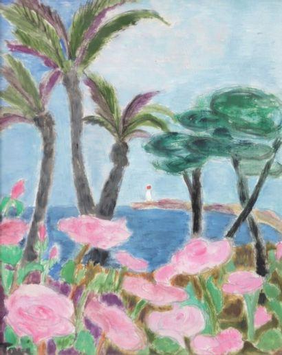 TAVÉ Georgette (1925-2008) Les Roses de mai...