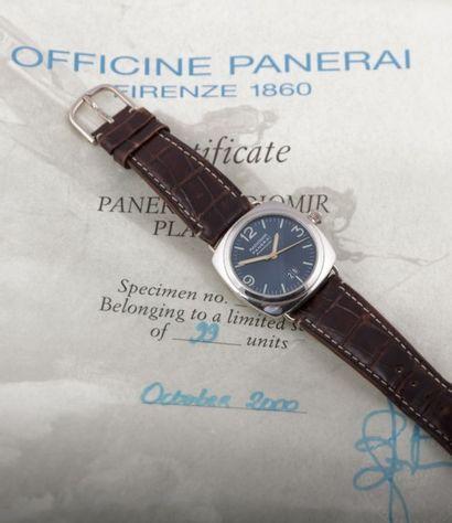 PANERAI (Radiomir/Special Edition Platinium/Blue Réf. PAM65) N° OP6542BB1007176,...