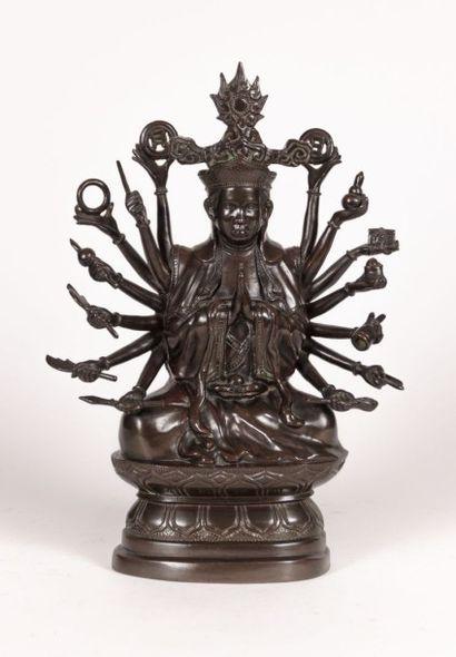 ASIE  Sujet en bronze dit