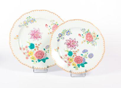 CHINE - Compagnie des Indes  Deux plats de...