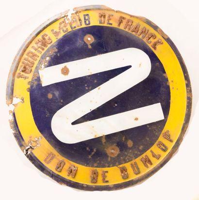 Plaque émaillée de forme ronde marquée