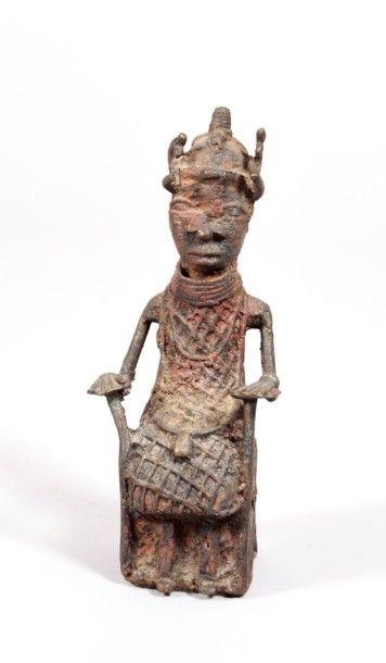 THAILANDE  Bronze avec traces de polychromie...