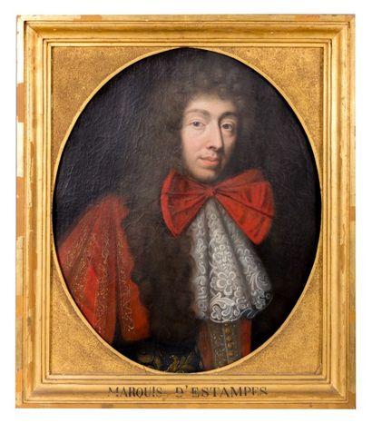 École française du XVIIème siècle  Portrait...
