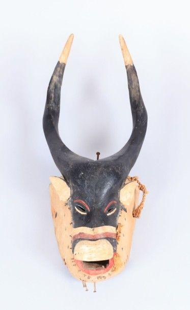 GURO - COTE D'IVOIRE  Masque en bois à pigments...
