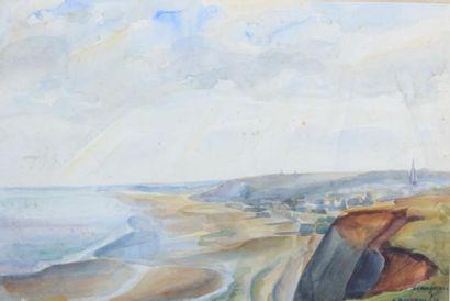 POUPROU Albert (1899-1966), d'après  Arromanches...