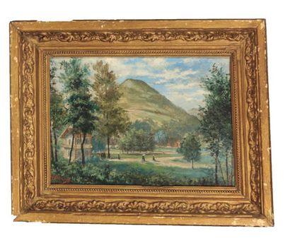 GONNARD Henri (1834-1912)  Vue d'Uriage  Huile...