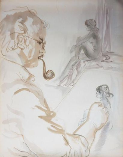 PIECHAUD Bertrand (né en 1941)  Paysage maritime...