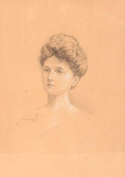 ROLLAND-MORIN G.  Femme et deux enfants  Trois...