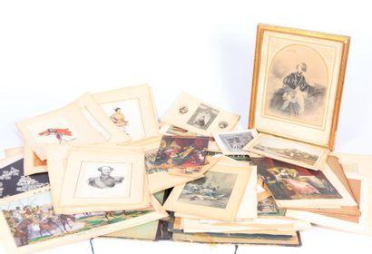 Cartonnier contenant des reproductions de...