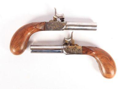 Paire de pistolets à percussion - canons...