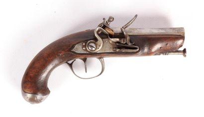 Pistolet à silex - canon octogonal légèrement...