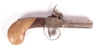 Pistolet de voyage à coffre - canon octogonal...