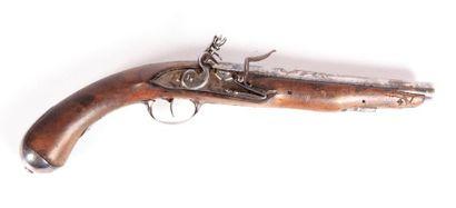 Pistolet pour officier à silex - platine...