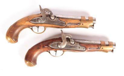 Paire de pistolets de demi-arçon sur le modèle...