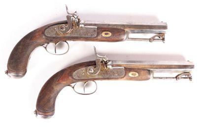 Paire d'importants pistolets