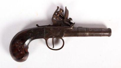 Pistolet à l'écossaise - batterie à silex...