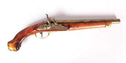 Pistolet d'arçon, canon rond de 29 cm cal...