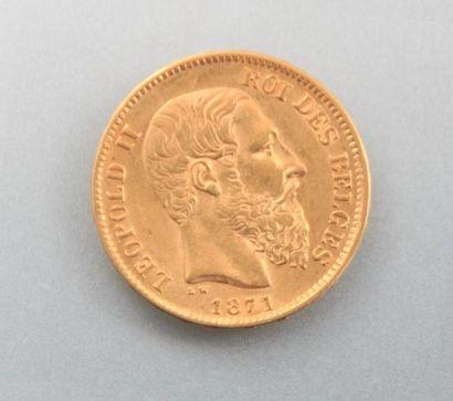 Pièce en or, 20 Francs - Léopold II, année...