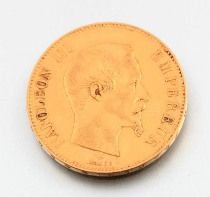 Pièce de 100 francs 1858 Napoléon III empereur....