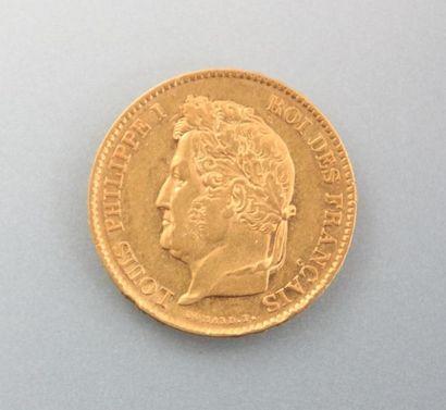 Pièce en or, 40 Francs - Louis Philippe I,...