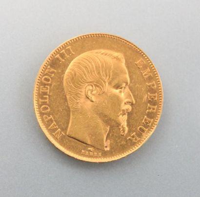 Pièce en or, 50 Francs - Napoléon III Empereur,...