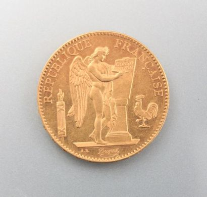 Pièce en or, 100 Francs - République Française,...