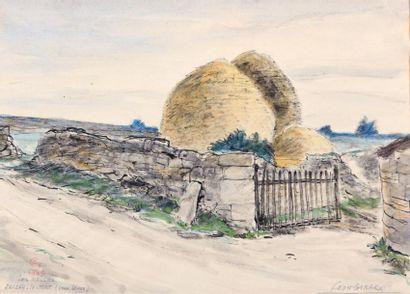 GIRARD Léon (XXème siècle)  Les meules Paizay-le-Tort...