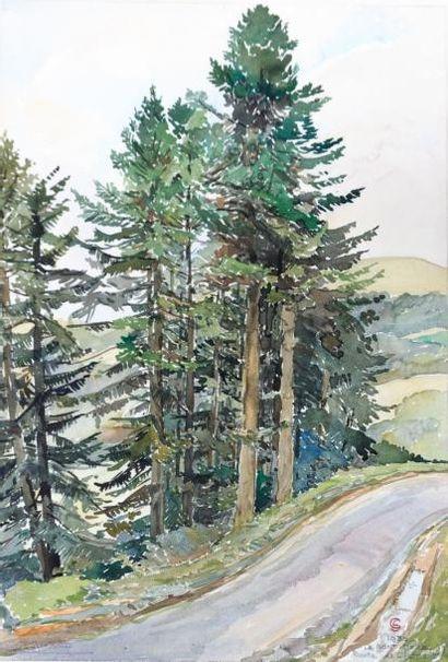 GIRARD Léon (XXème siècle)  Le Mont Doré,...