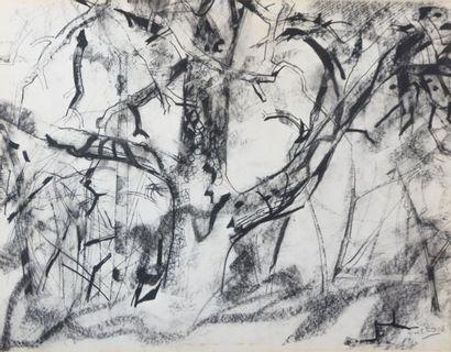 THERON Pierre (1918-2000)  Février au bois...