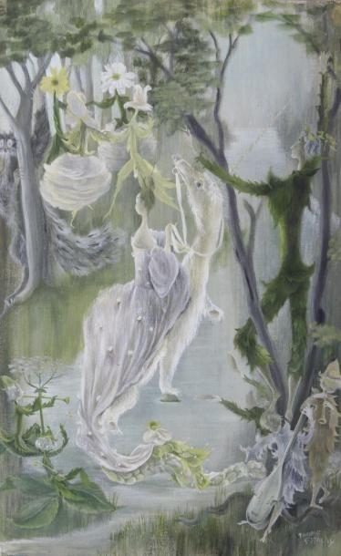 ESTACHY Françoise (1911-1983)  Licorne blanche...