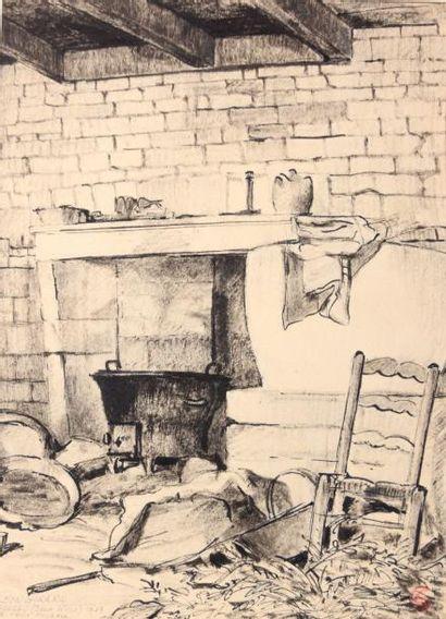 GIRARD Léon (XXème siècle)  Le vieux fournil...