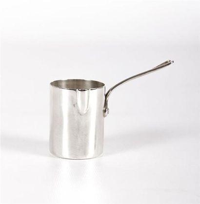 Pot à lait en argent uni, à fond plat, simulant...