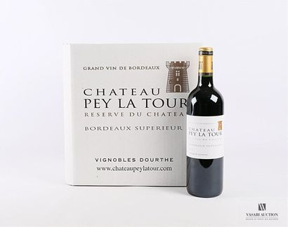 12 Blles CH. PEY LATOUR Réserve du Chateau - Bordeaux supérieur 2014 Carton d'origine...