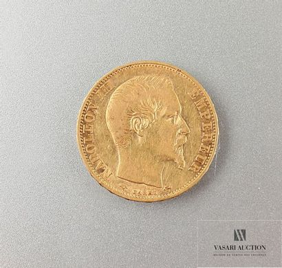 Une pièce de 20 Frcs Napoléon III 1859 Poids...