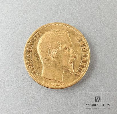Une pièce de 20 Frcs Napoléon III 1853 Poids...
