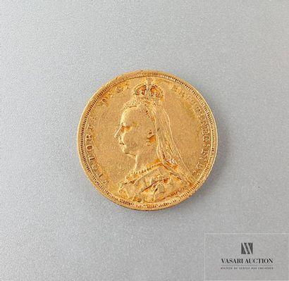 Une pièce or Victoria 1889 Poids : 7,95 ...